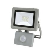 Projecteur LED 10W detec 6500K 800LM IP44 Noir - Projecteurs - Baladeuses - Hublots - Electricité & Eclairage - GEDIMAT