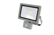Projecteur LED 30W detec 6500K 2400LM IP44 Gris - Projecteurs - Baladeuses - Hublots - Electricité & Eclairage - GEDIMAT