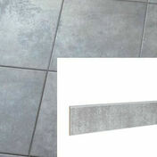 Plinthe pour carrelage sol PLATINE en grès cérame émaillé haut.8cm larg.34cm coloris Acier - Carrelages sols intérieurs - Cuisine - GEDIMAT