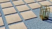 Grès cérame antidérapant décoré naturel rectifié Dim.60x60cm ép.20mm coloris beige - Carrelages sols extérieurs - Aménagements extérieurs - GEDIMAT