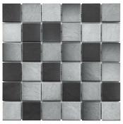 GRIP  - Carrelage pour mur en faïence mate IRON Long.0,5 x Larg.0,2 m coloris Silver - Gedimat.fr