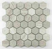 Mosaïque en pierre naturelle FAVO crème - Mosaïques - Galets - Revêtement Sols & Murs - GEDIMAT