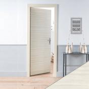 Bloc-porte battant PRIMA 2040x730mm palissandre blanc - Bloc-porte JAZZ vitrée 4 carreaux en bois exotique huisserie de 72x40mm haut.2,04m larg.83cm droit poussant - Gedimat.fr