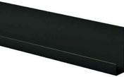 Profil d'arrêt latéral en aluminium thermolaqué haut.10.5mm larg.45mm long.3m Noir - Radiateur sèche-serviettes ALUTU mat droite coloris Blanc 750W SAUTER - Gedimat.fr