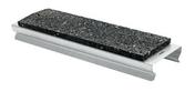 Connecteur acier galva ép.23,3mm larg.59,3mm long.214mm avec semelle de caoutchouc - Paroi fixe à 90° ALESIA haut.2m long.79,5cm profilés blanc verre transparent - Gedimat.fr