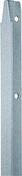 Piquet galvanisé T dim.30x30mm haut.1.75m - Grillage simple torsion maille 50x50mm haut.1.75m long.25m galvanisé - Gedimat.fr