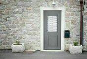 Porte d'entrée PICTO3 en aluminium gauche poussant haut.2.15m larg.90cm laqué blanc - Portes d'entrée - Menuiserie & Aménagement - GEDIMAT