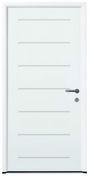 Porte d'entrée SAEL en acier gauche poussant haut.2.15m larg.90cm laqué blanc - Portes d'entrée - Menuiserie & Aménagement - GEDIMAT