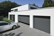 Porte de garage basculante 845 haut.2.125m larg.2.375m coloris gris 7016 - Portes de garage - Menuiserie & Aménagement - GEDIMAT