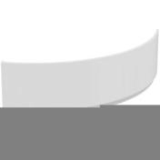Tablier pour baignoire d'angle HOTLINE dim.150x150cm blanc - Tuile CANAL 230-50 couvert coloris brun - Gedimat.fr
