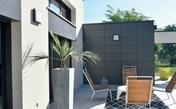 Panneau de façade ciment composite Long.1,192m larg.592mm  Ép.8,00mm Coloris blanc - Panneaux lattés et lamellés-collés - Bois & Panneaux - GEDIMAT