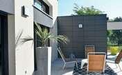 Panneau de façade ciment composite Long.1.192m larg.592mm Ép.8 mm Coloris anthracite - Panneaux lattés et lamellés-collés - Bois & Panneaux - GEDIMAT