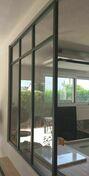 Kit d'habillage verrière aluminium finition noir 2100 sablé Haut.1,198m larg.1,193m - Escalier escamotable ECOWOOD 26 120x60cm 12 marches avec bloc-trappe - Gedimat.fr