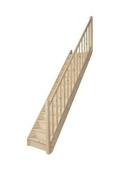 Escalier droit en kit TRADI ECO en Sapin haut.2,80 m avec rampe - Bloc béton cellulaire linteaux horizontal U de coffrage ép.24cm larg.25cm long.300cm - Gedimat.fr