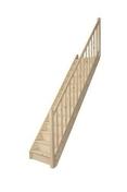 Escalier droit en kit TRADI ECO en Sapin haut.2,80 m avec rampe - Escalier droit en kit BERGEN en Sapin haut.2,75m sans rampe - Gedimat.fr