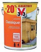 Lasure classique incolore V33 pot de 6L dont 1 gratuit - Tuile DOUBLE HP20 coloris flammé rustique - Gedimat.fr