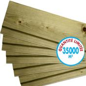 Bardage Sapin du Nord ép.21mm larg.132mm utile (145 hors tout) long.4,80m vert - Clins - Bardages - Revêtement Sols & Murs - GEDIMAT