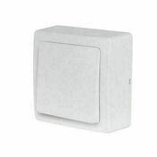 Appareillage en saillie bouton poussoir gamme Blok couleur blanc - Câble électrique souple H05VVF section 3G1,5mm² coloris gris en bobine de 10m - Gedimat.fr