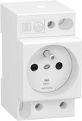 Prise de courant 2 pôles + Terre modulaire 250V 16A RESI9 XP - Interrupteurs - Prises - Electricité & Eclairage - GEDIMAT