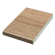 Plan de travail stratifié ép.38mm larg.65cm long.2,9m R4 décor fjord chêne - Doublage isolant plâtre + polyuréthane PREGYRETHANE 23 ép.10+60mm larg.1,20m long.2,50m - Gedimat.fr