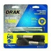 Fixation chimique DRAK M8 - blister de 4 pièces - Scellements chimiques - Quincaillerie - GEDIMAT