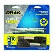 Fixation chimique DRAK M10 - blister de 4 pièces - Scellements chimiques - Quincaillerie - GEDIMAT