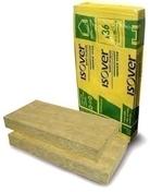 Laine de roche ISOVER TF 36 non revêtue - 1,20x0,60m Ep.60mm - R=1,65m².K/W. - Isolation Thermique par Extérieur - Isolation & Cloison - GEDIMAT