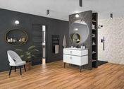 Radiateur sèche-serviettes MARAPI Long.50cm Haut.108cm Ép.13cm coloris Anthracite 500W SAUTER - Chauffage salle de bain - Salle de Bains & Sanitaire - GEDIMAT