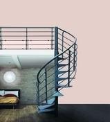 Escalier hélicoïdal OSLO diam 152cm en acier Gris 7024 Grainé - Escaliers - Menuiserie & Aménagement - GEDIMAT