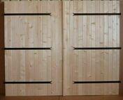 Porte de garage 2 vantaux en bois (sapin) haut.2,00m larg.2,40m - Portes de garage - Menuiserie & Aménagement - GEDIMAT
