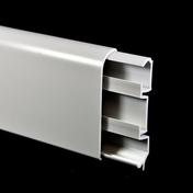 Plinthe passage fil revétue  ép.15mm haut.80mm long.2600mm blanc - Moulures - Menuiserie & Aménagement - GEDIMAT