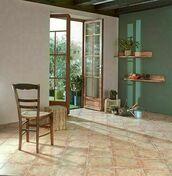 Carrelage en grès cérame émaillé PONT DU GARD 30cm x 30cm Ép.8mm Coloris ocre - Briquettes en grès cérame émaillé LONDON larg.13 cm long.25 cm ép.10 mm Brown - Gedimat.fr