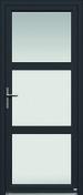Porte d'entrée CANDEL 58 en aluminium laqué gauche poussant haut.2,15m larg.90cm - Portes d'entrée - Menuiserie & Aménagement - GEDIMAT