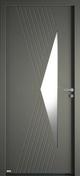 Porte d'entrée CYTISS 10 en aluminium laqué gauche poussant haut.2,15m larg.90cm - Portes d'entrée - Menuiserie & Aménagement - GEDIMAT