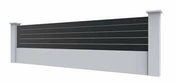 Lame clôtures Aluminium gris 7016 Long.2,00 m - Hotte visière BRANDT 60cm coloris blanc - Gedimat.fr