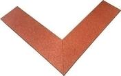 Bordure amortissante 100 x 25 x ép.2,5 cm rouge - Bordures de jardin - Aménagements extérieurs - GEDIMAT