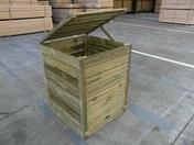 Composteur en bois Long.80 x Haut.101,4 x Prof.80 cm - Terreaux - Engrais - Plein air & Loisirs - GEDIMAT