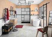Carrelage pour sol intérieur en grès cérame émaillé MAGMA groupe 5 Couleur gris 50,50cm x 50,50cm Ép.10 mm - Carrelages sols intérieurs - Cuisine - GEDIMAT