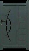 Portillon ELIOS en aluminium haut.1.62m  larg. Entre piliers 1,05m coloris gris 7016 - Motorisation pour portail 2 battants juqu'à 2,20m par vantail et 250kg chacun - verrin - Gedimat.fr