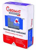 Mortier-colle amélioré C2ET GEDIMAT PERFORMANCE PRO blanc - sac de 25kg - Gedimat.fr