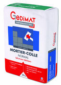 Mortier colle normal C1 gris 25 kg GEDIMAT PERFORMANCE PRO - Platine double EA 150 per à glissement diam.12 - 2 sorties mâle G3/4 supp brochable - Gedimat.fr