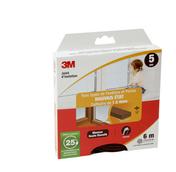 Joint de porte et fenêtre bois JMEP profil P marron - 6m - Verre synthétique pour intérieur ép.5mm dim.1x1m - Gedimat.fr