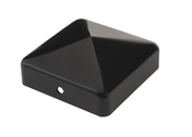 Chapeau pyramide pour poteau bois CABOCHON 70 Finition Noire - Equerre de fixation 38mm - Gedimat.fr