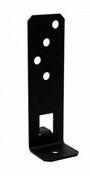 Pied de poteau réglable en largeur - Finition noire - Tasseau Sapin du Nord section 22x50mm long.2,40m - Gedimat.fr
