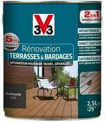 Saturateur rénovation terrasses mat wengé  - pot 1l - Produits de finition bois - Aménagements extérieurs - GEDIMAT