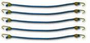 Sandow avec crochet acier plastifié bleu D4mm L.25cm - blister de 5 pièces - Chaines - Cordes - Arrimages - Quincaillerie - GEDIMAT