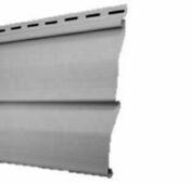 Bardage Vinyl Long.utile 2,86m utile (2900 hors tout) larg.205mm utile (240 hors tout) Ép.14mm  Gris clair - Angle extérieur pour bardage vinyl 85 x 90 mm Long.2,90 m Gris clair - Gedimat.fr