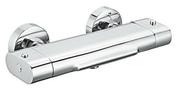 Thermostatique bain-douche TOKOU MATCHA finition chromé - Receveur carré à poser ou à encastrer KINESURF en biocryl thermoformé Long.140cm haut.4cm larg.90cm coloris Blanc - Gedimat.fr