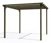 Pergola bois eco 3x3m poteau de 90x90mm marron - Pergolas - Plein air & Loisirs - GEDIMAT