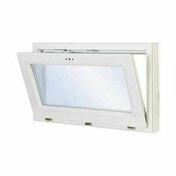 Châssis soufflet PVC blanc VISION haut.45cm larg.60cm vitrage 4/16/4 basse émissivité - Mitigeur lavabo OPEN chromé - Gedimat.fr
